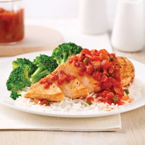 Poitrines de poulet à la salsa