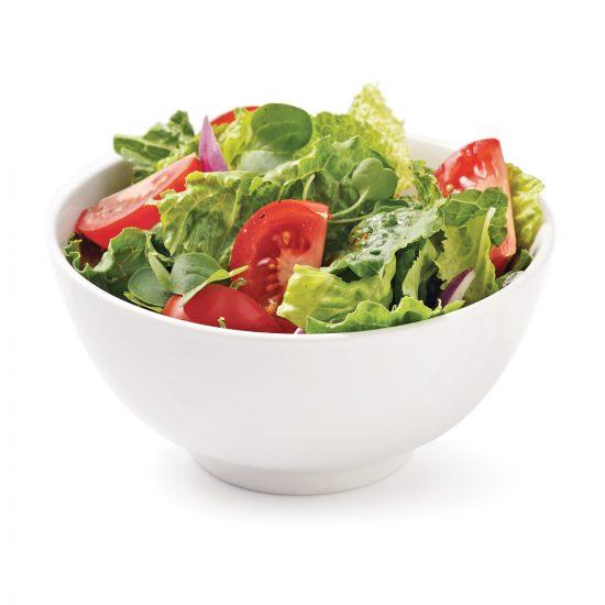 Salade romaine tomates et micropousses