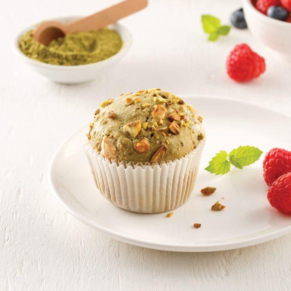 Muffins au thé matcha et pistaches