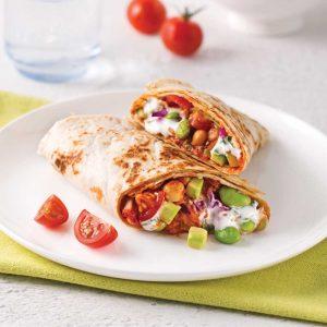 Burritos aux edamames et pois chiches