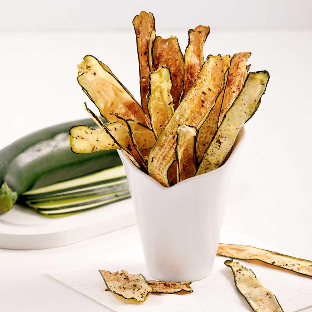 Chips de courgettes au parmesan