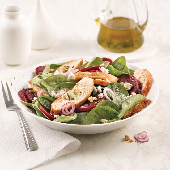 Salade de betteraves et poulet