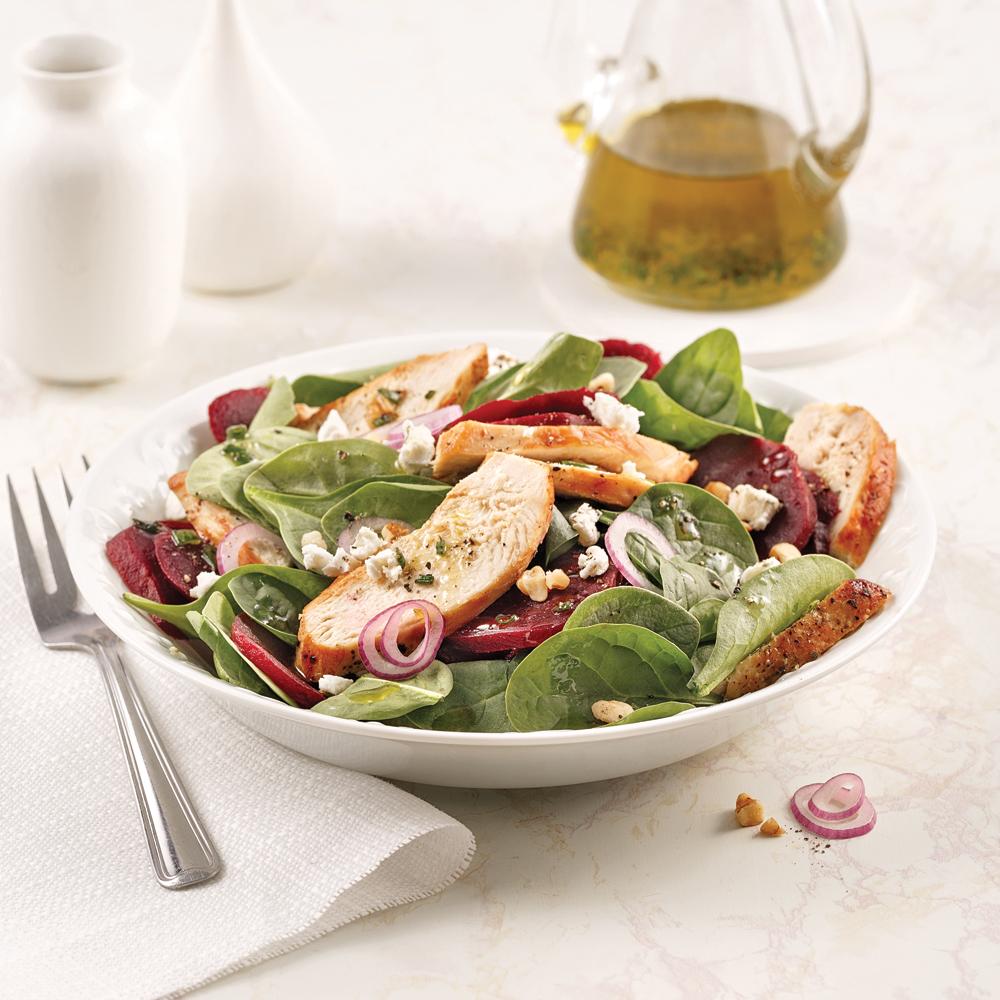 Salade de betteraves et poulet