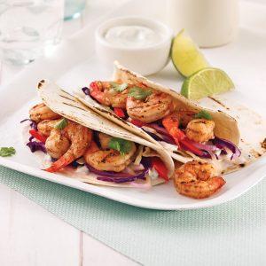 Tacos de crevettes à la marinade jerk