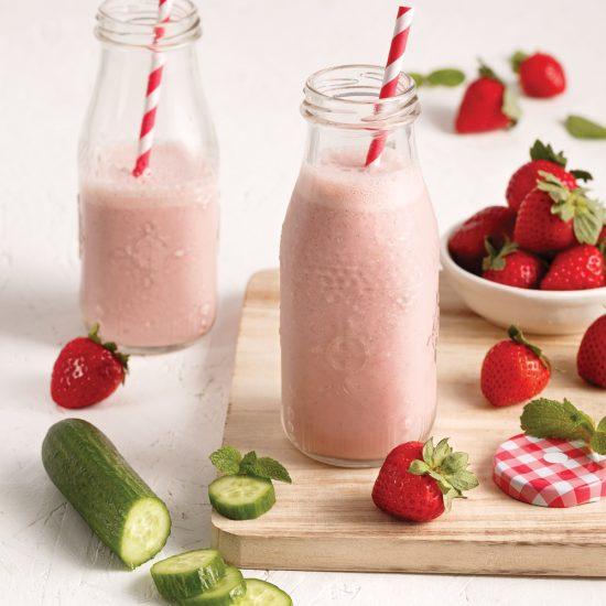 Smoothie fraises-concombre