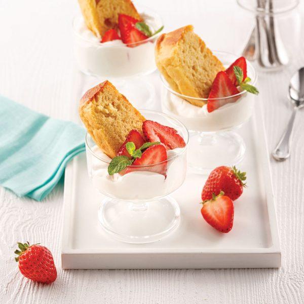 Shortcake aux fraises déconstruit