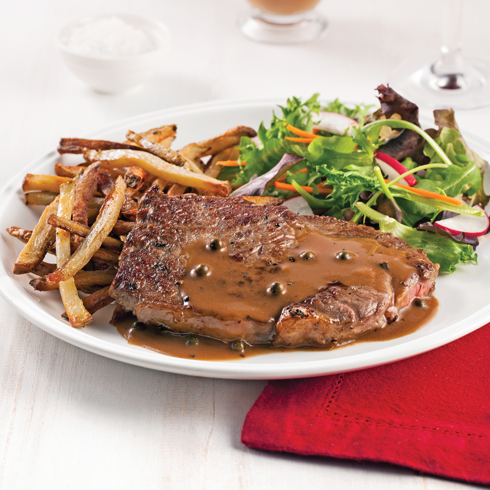 Steak et frites au paprika fumé