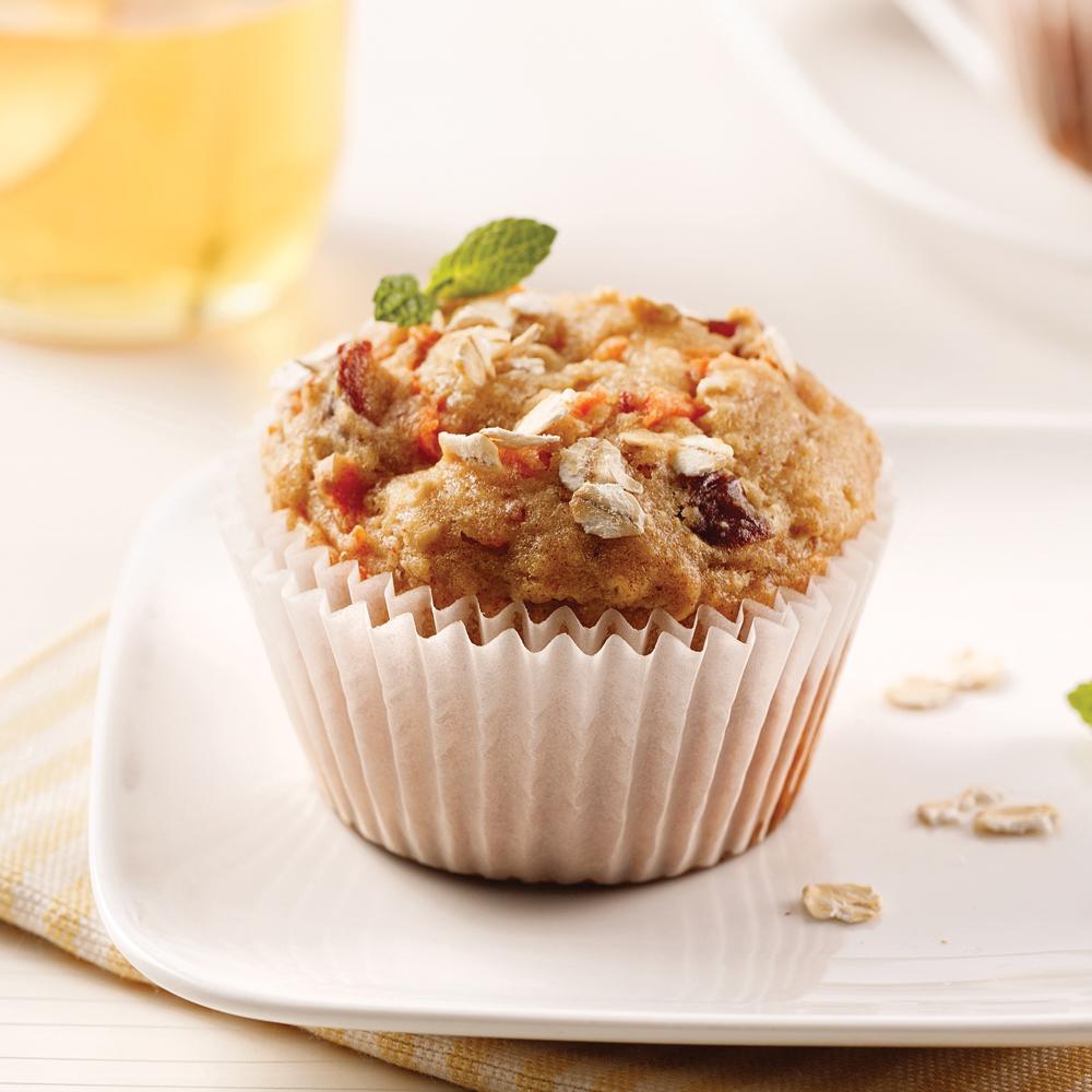 Muffins aux dattes, carottes et lait de coco