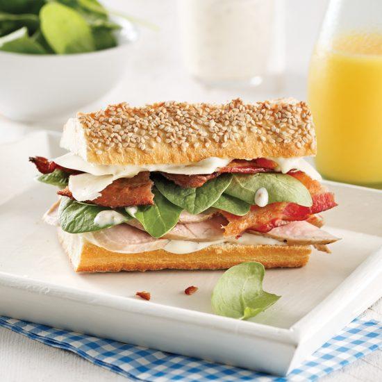 Sandwich au rôti de porc, mayonnaise à l'érable