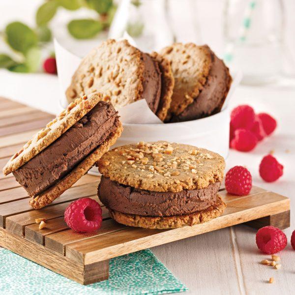 Biscuits à la crème glacée de bananes