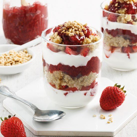 Parfait au quinoa et fraises