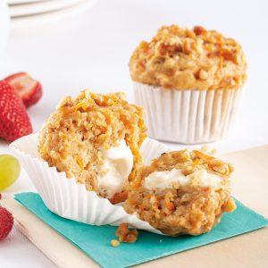 Muffins carottes, érable et noix