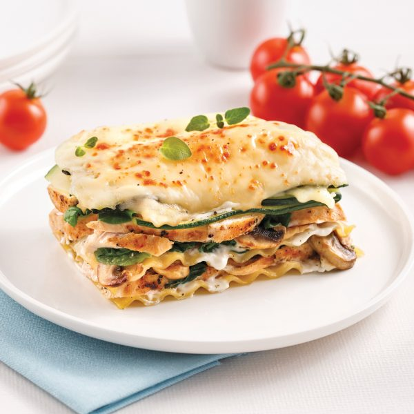 Lasagne au poulet et champignons