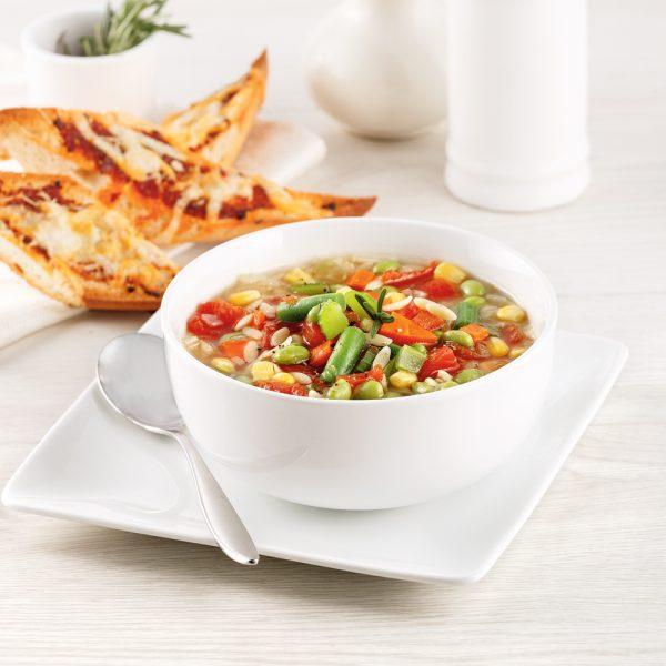 Soupe orzo et légumes
