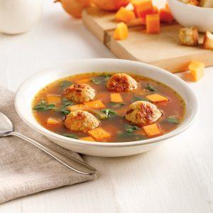 Soupe aux boulettes de poulet et gingembre