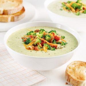 Soupe brocoli et cheddar