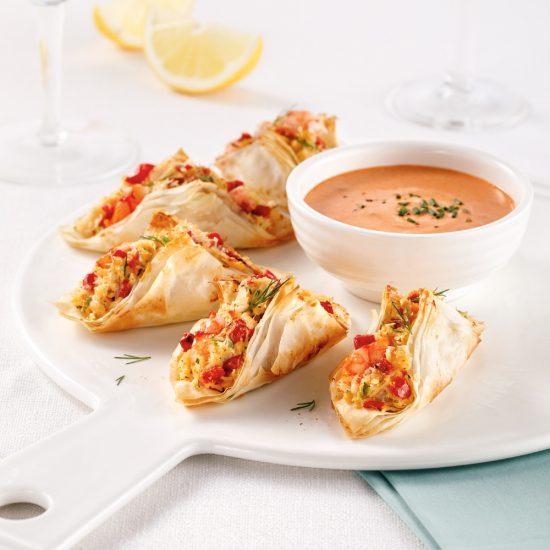 Mini-tacos aux fruits de mer