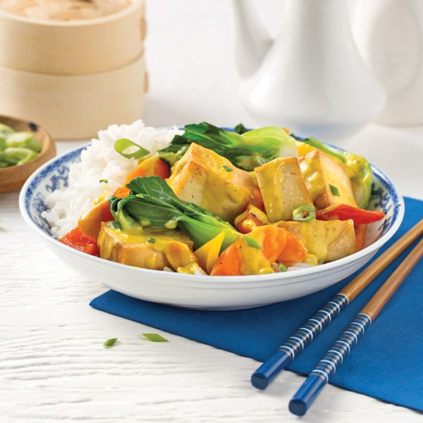 Sauté de tofu fumé aux légumes