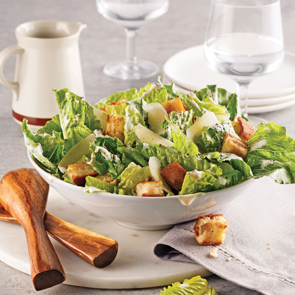 Salade César allégée