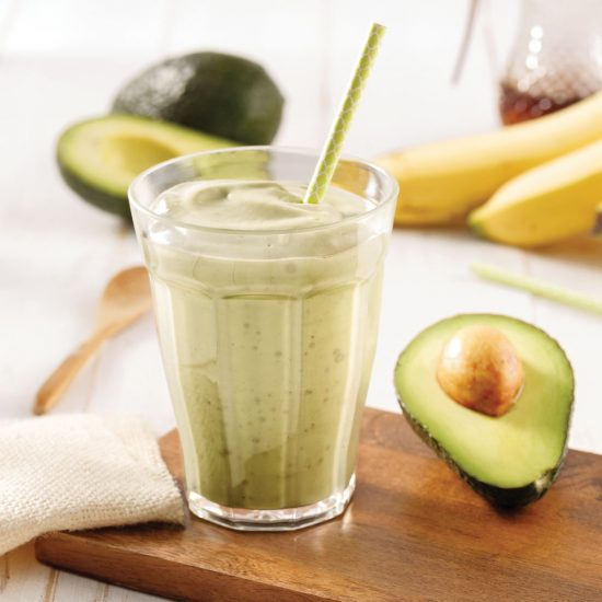 Smoothie banane et avocat