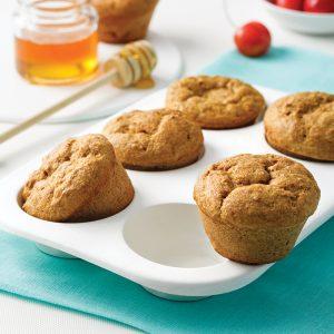 Muffins au son et miel