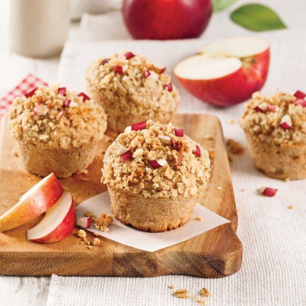 Muffins aux pommes avec crumble