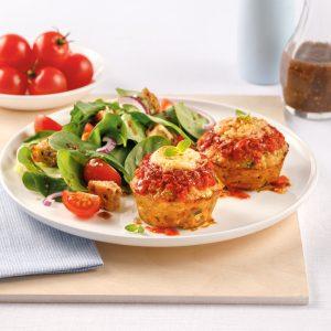 Mini-pains de viande au poulet parmigiana