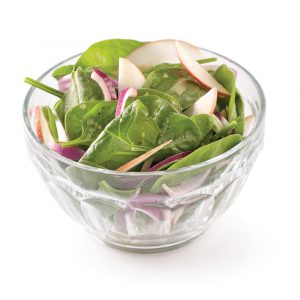 Salade d'épinards et pomme