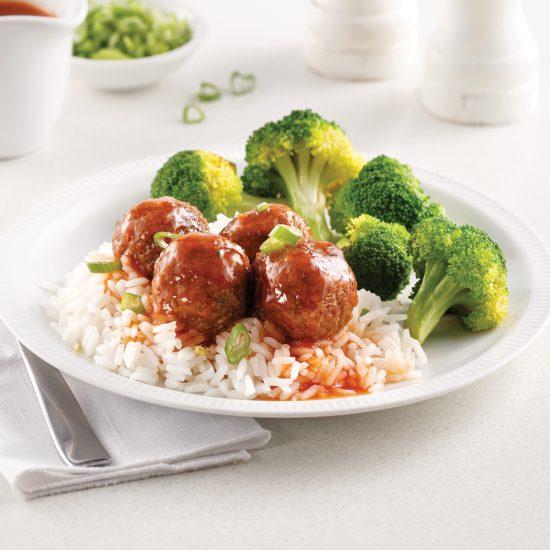 Boulettes végétariennes sucrées-salées