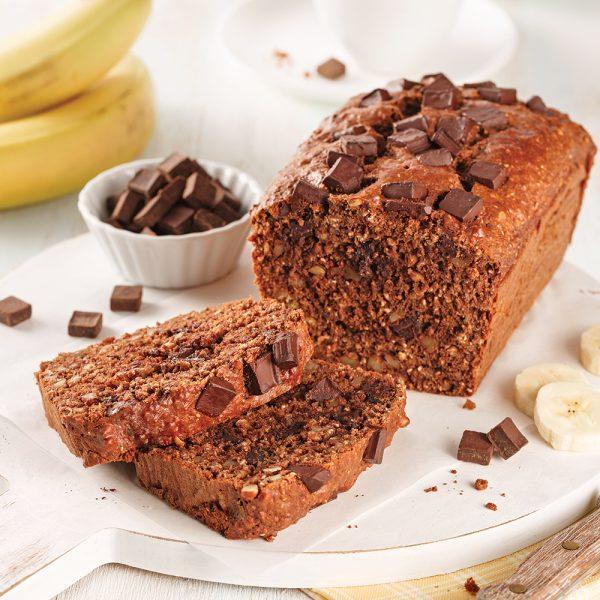 Pain santé aux bananes et chocolat