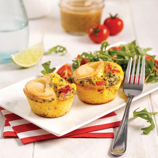 Mini-quiches aux tomates séchées et fromage de chèvre