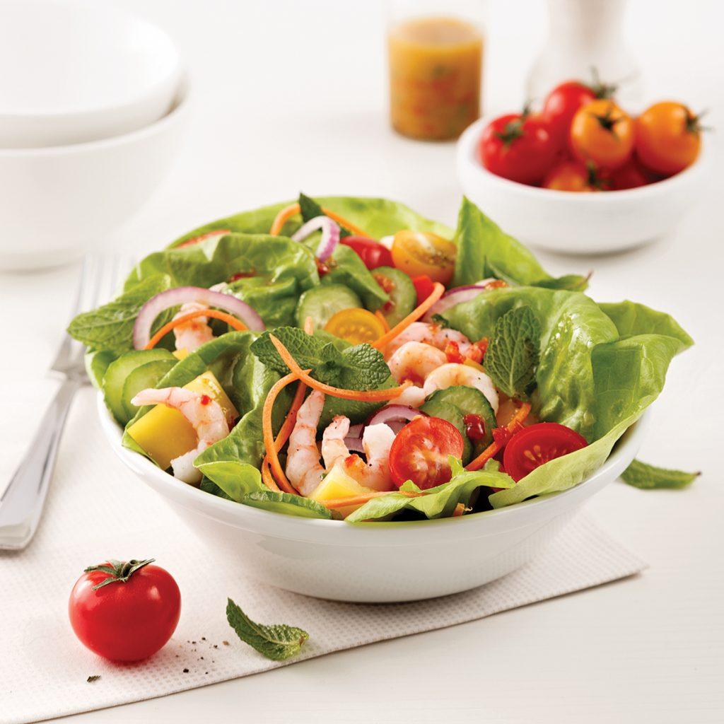 Salade estivale aux crevettes nordiques
