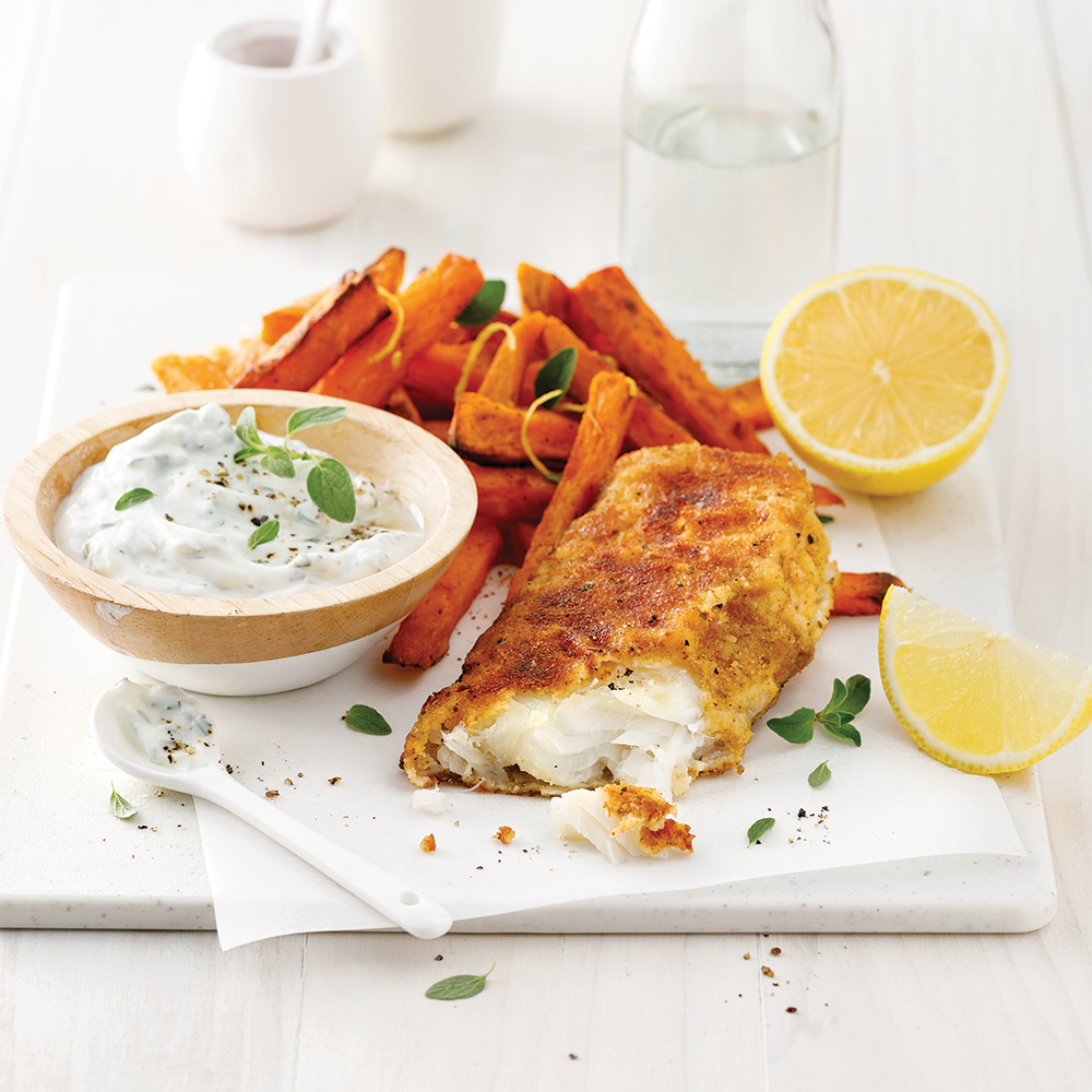 Fish'n chips au four