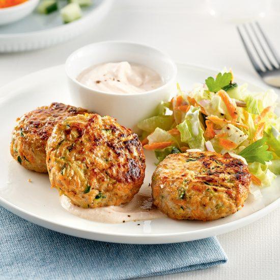 Galettes de poulet et carottes
