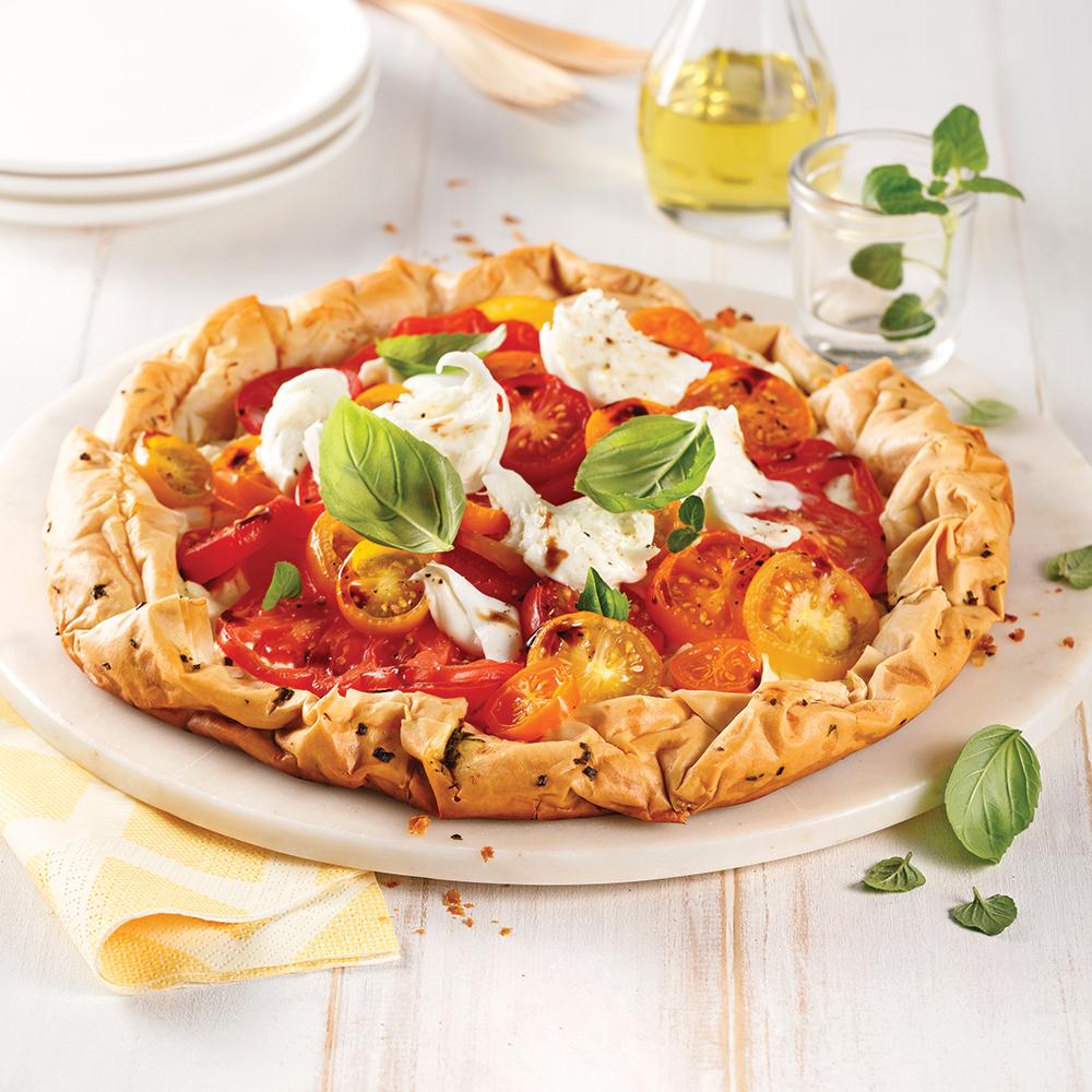 Tarte aux tomates sur pâte phyllo