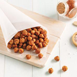Pois chiches rôtis épicés au miel et sésame