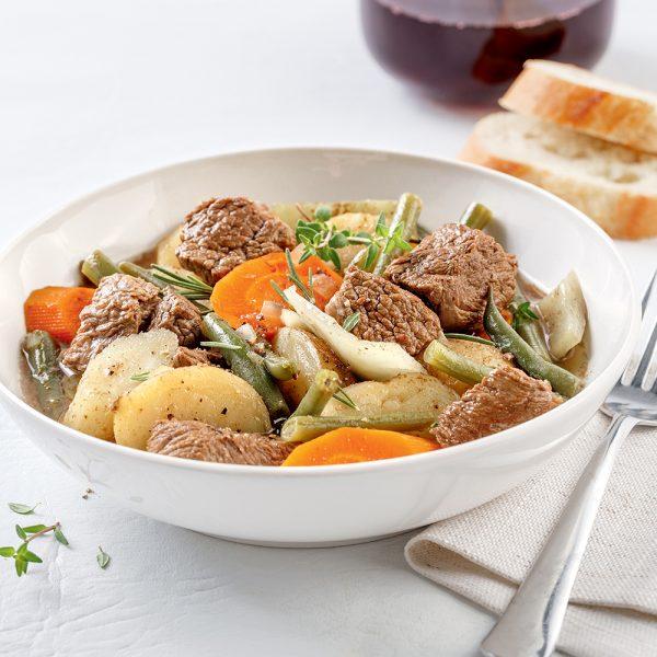 Bouilli de boeuf et légumes