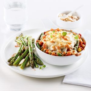 Gratin de pois chiches et légumes