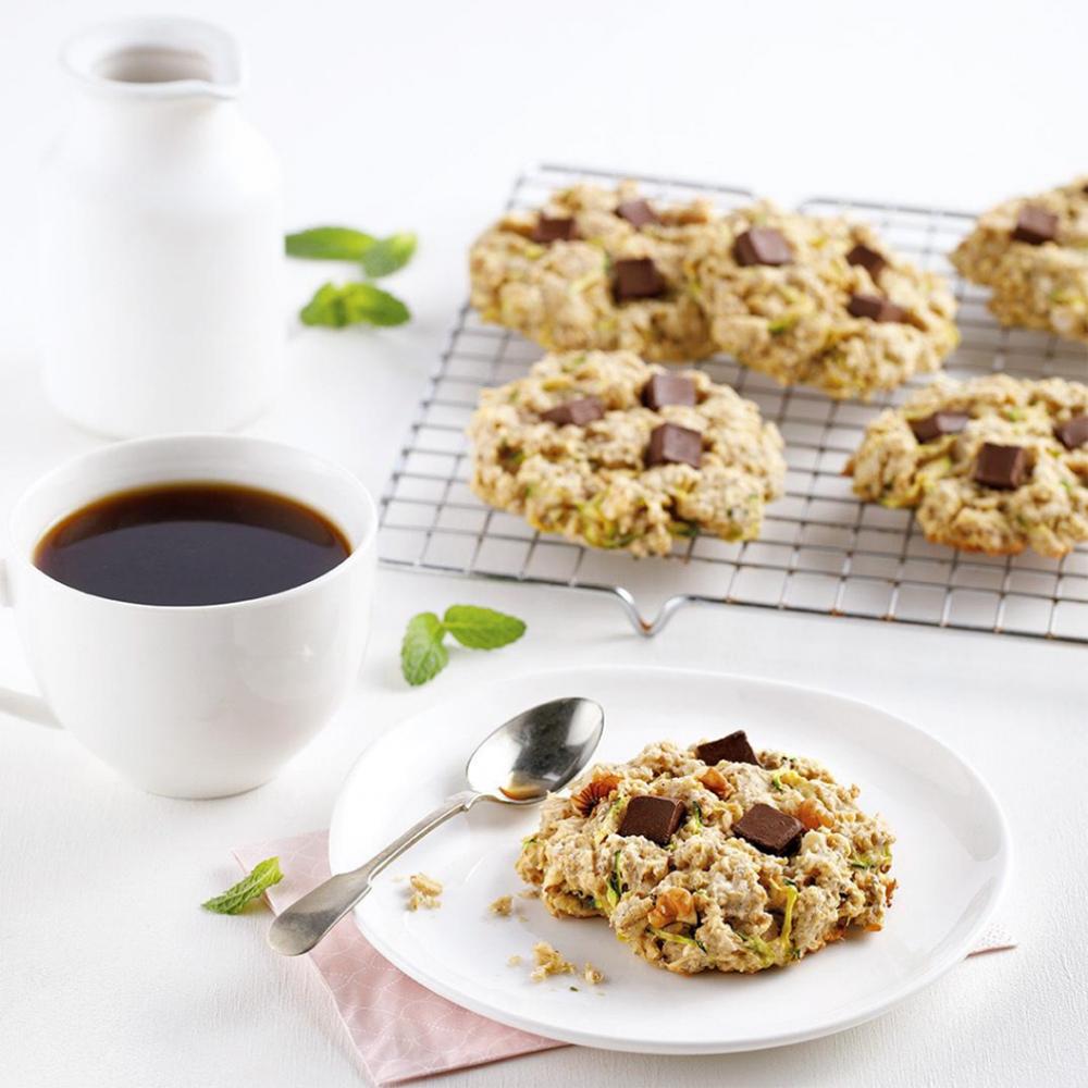 Biscuits déjeuner aux courgettes et chocolat