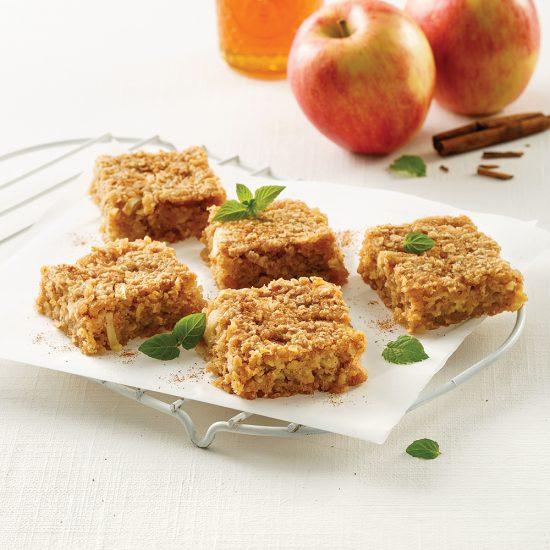 Carrés tarte aux pommes