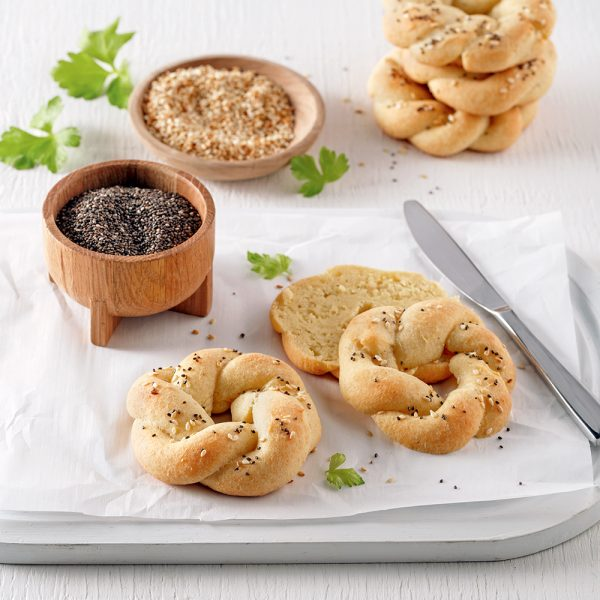 Mini-bagels faibles en glucides
