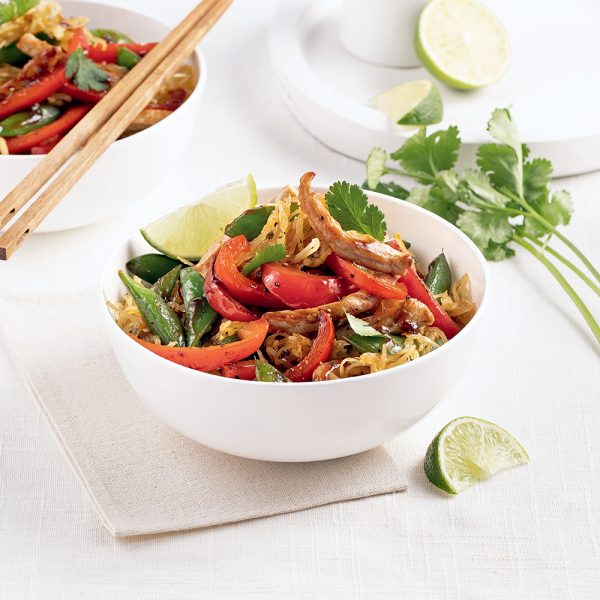 Courge spaghetti à l'asiatique