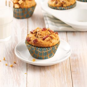 Muffins aux pommes, raisins secs et patate douce