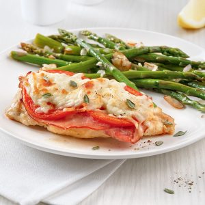 Escalopes de poulet style croque-monsieur