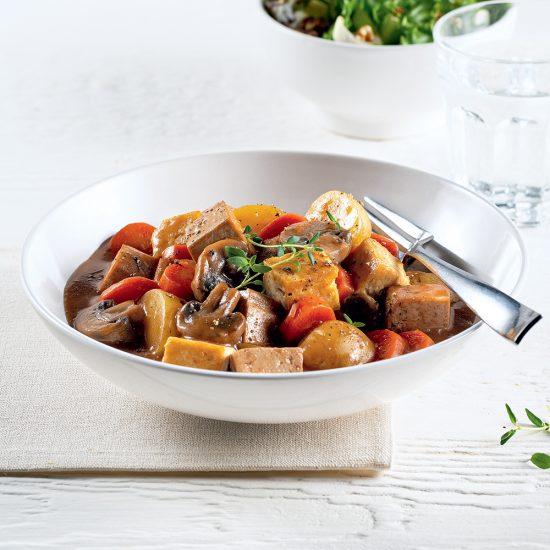 Tofu style boeuf bourguignon