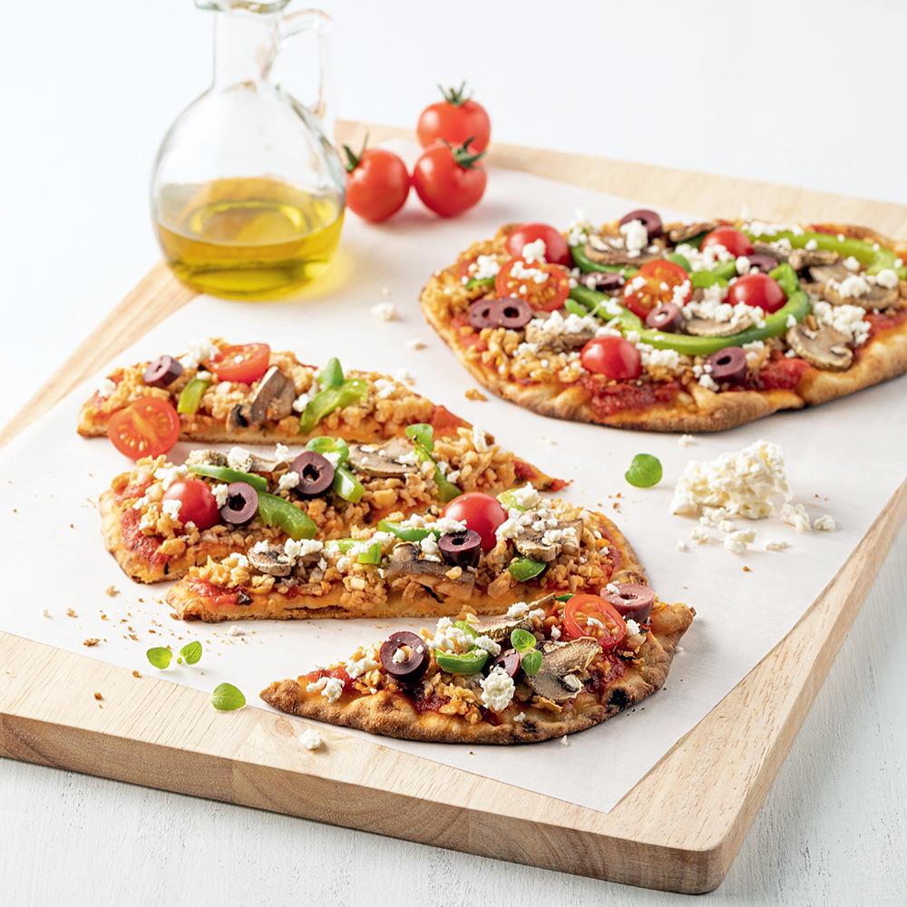 Pizza à la grecque avec PVT