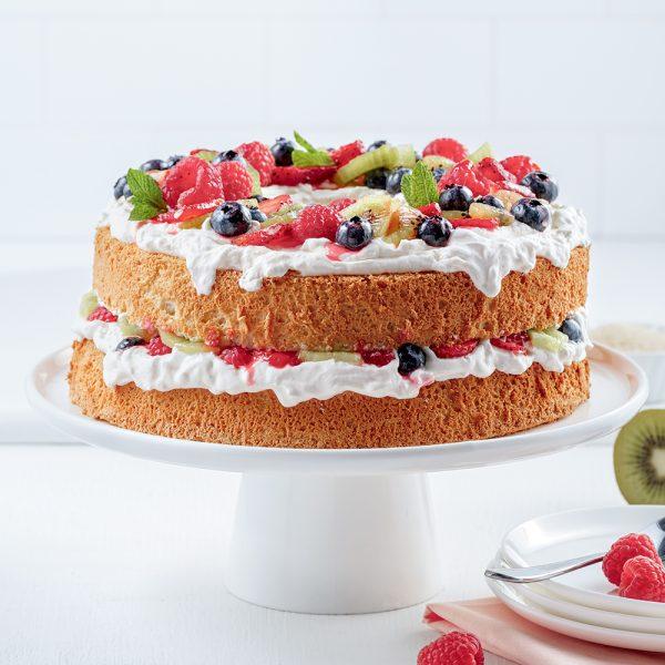 Gâteau des anges aux fruits