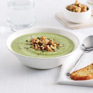 Crème de brocoli et haricots blancs