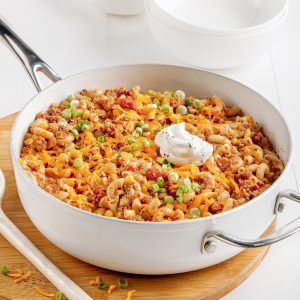 One pot de macaronis style chili