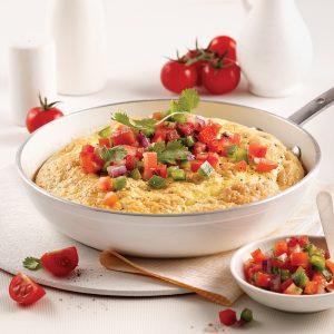 Omelette soufflée et salsa fraîcheur